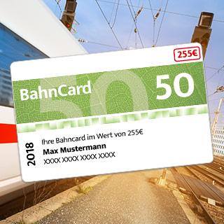 BahnCard 50 Gewinnspiel